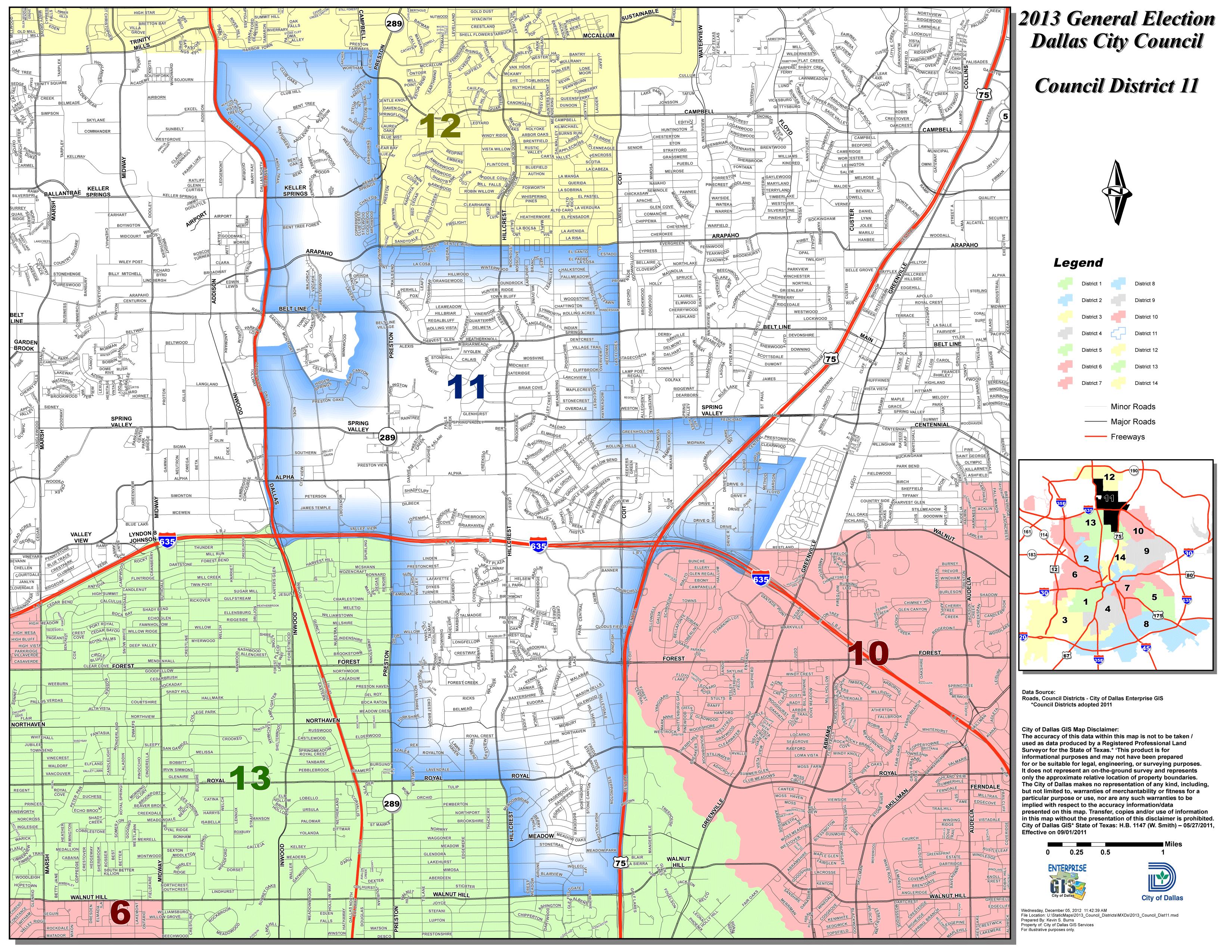 Map of District 11 « Lee M. Kleinman Dallas District Map on